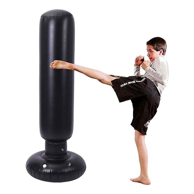 ANGEL Saco de Boxeo Saco Hinchable de Boxeo MMA Punzonado ...