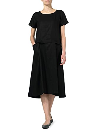 43bf6085d8 Vivid Linen Slip On A line Dress at Amazon Women s Clothing store