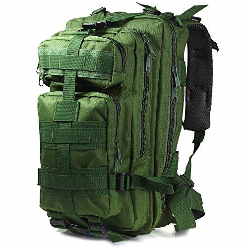 Rucksack Hohe Kapazität Multi Taschen für Aktivitäten im Freien Grün