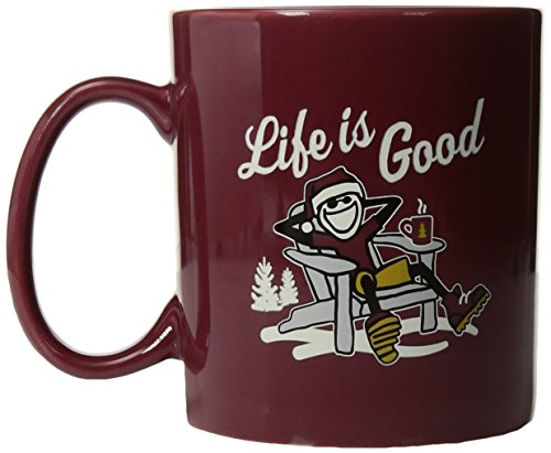 Life is good Jake's Mug Bearded Jake Sunglasses, Cranberry Red, One - Life Sunglasses Outdoor