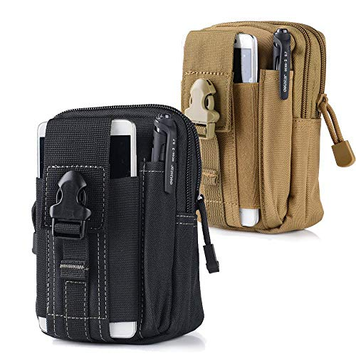 Universal Tactical Waist Belt Bag | Outdoor EDC Military Holster Waist Wallet Pouch Phone Case Gadget Pocket for iPhone X 8 7 6 6s Plus Samsung Galaxy S8 S7 S6 S5 S4 S3 Note 8 5 4 3 2 LG G5 LG HTC -