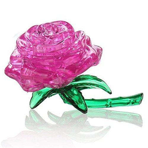 [해외]NERLMIAY Original 3D Crystal Puzzle Rose Flower Children Creative Gift Fun Toy for Child Puzzlers Toy(Pink) / NERLMIAY Original 3D Crystal Puzzle Rose Flower Children Creative Gift Fun Toy for Child Puzzlers Toy(Pink)