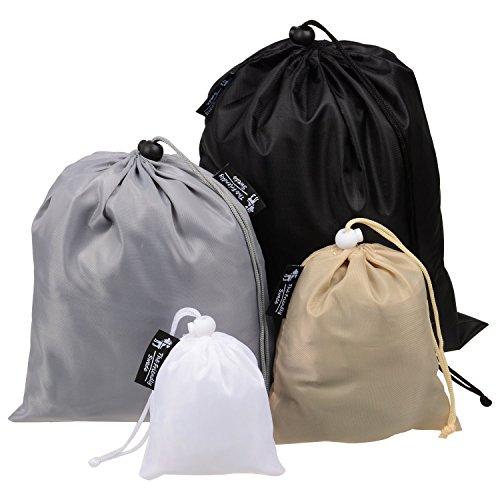 The Friendly Swede 4 Stück leichte Organizer-Taschen mit Kordelzug - ideal als Koffer-Organizer (verschiedene Größen)