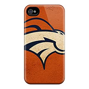 High Quality Hard Phone Case For Apple Iphone 4/4s (pPy6292Ocyp) Customized Colorful Denver Broncos Skin