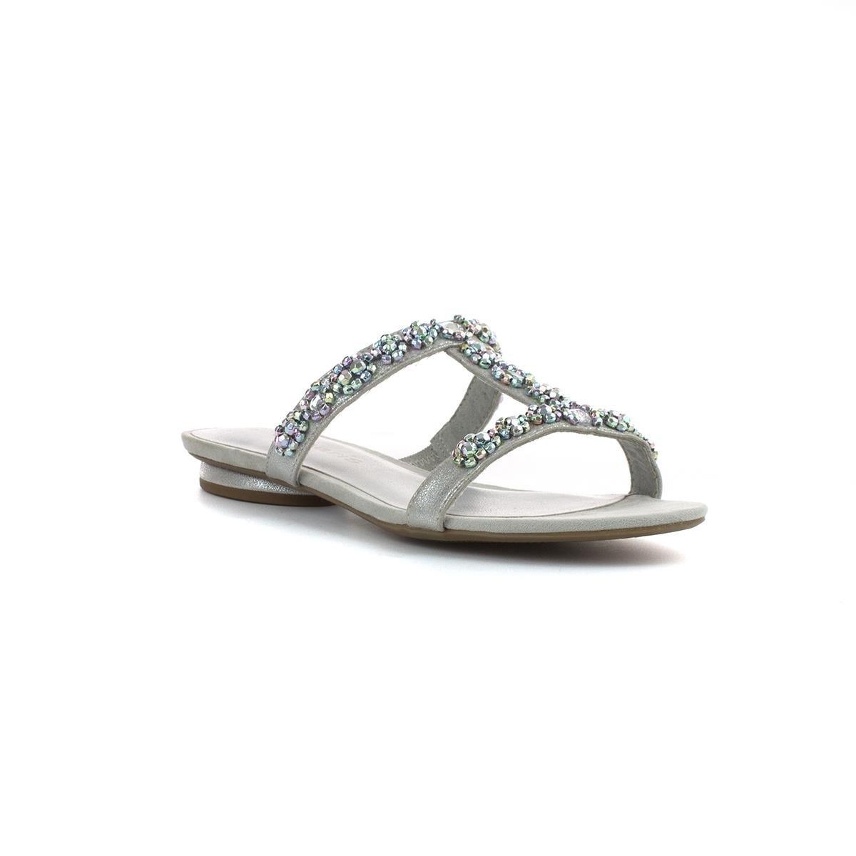 dbea3308c3a2 Tamaris Womens Silver Slip On Flat Sandal - Size 41 - Multicolour   Amazon.co.uk  Shoes   Bags