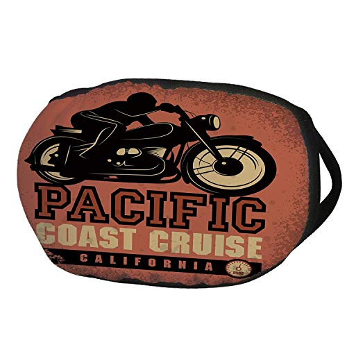 Fashion Cotton Antidust Face Mouth Mask,Adventure,Pacific Coast Cruise California Motorcycle Driving Journey Traveling Hand Drawn Decorative,Ruby Black,for women & men ()