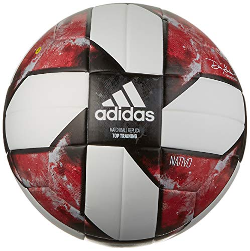 Red Adidas Ball Soccer (adidas MLS Top Training Soccer Ball White/Black/Active Red, 4)