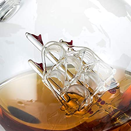Juego de decantador de whisky y dispensador de bebidas, 2 vasos con soporte de madera, set de regalo para licor, escocés, bermellón, vodka