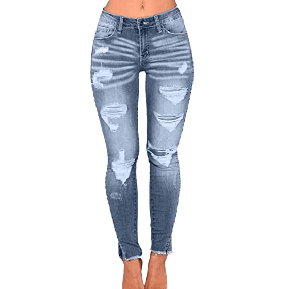 Denim Jeans feiXIANG Jeanshose Skinny beiläufige Hosen mit hoher Taille Stretchy Pencil Pants Frauen