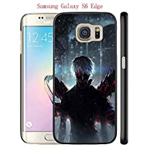 Galaxy S6 Edge Case, Anime Tokyo Ghoul 38 Drop Protection Never Fade Anti Slip Scratchproof Black Hard Plastic Case
