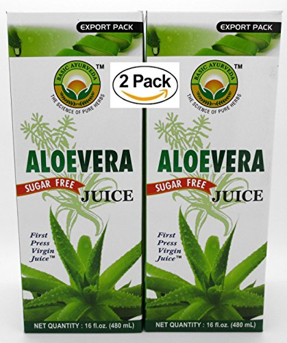 Aloe Vera Juice – A delicious sugar free Aloe Vera First Press Virgin Juice , One of the nature s Most perfect nutrient Drink From Basic Ayurveda