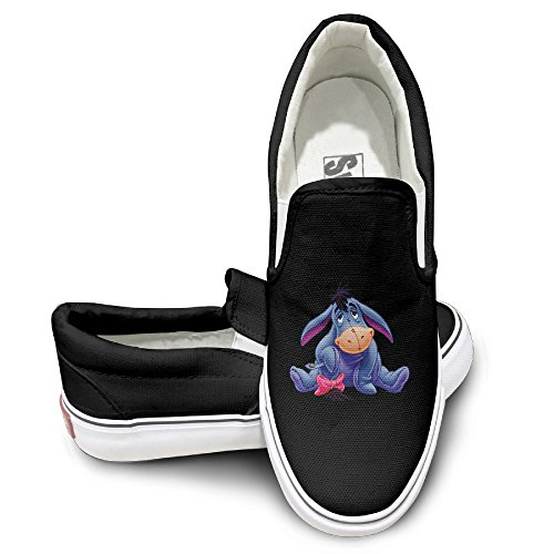 Eeyore Costume Makeup (MGTER66 Cutest Eeyore The Pooh Classic Slip-On Casual Sneaker Unisex Style Color Black Size 38)