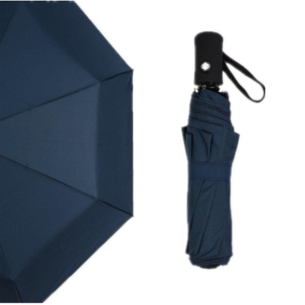 CoCogo Paraguas plegable de viaje automático?ligero resistente al viento?Apertura Automático Compacto Pliegues?azul
