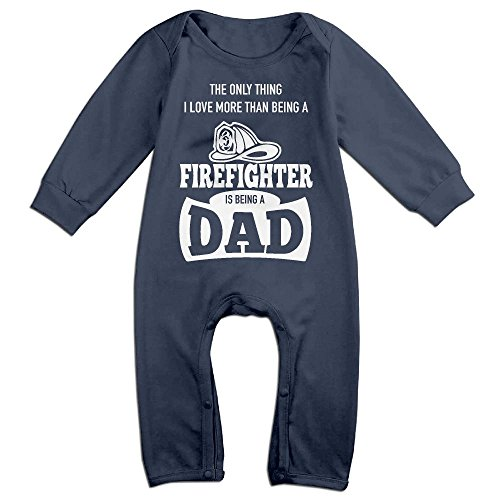 Only Thing Love More Than Being Firefighter Is Dadbaby Long Sleeve Jumpsuit Adorable