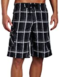 Hurley Men's Hurley Puerto Rico Plaid Boardshort, Black, 29