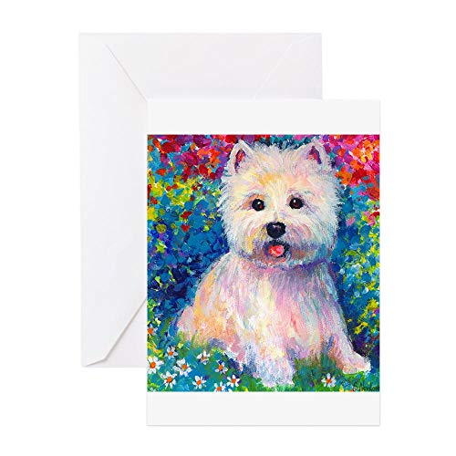 (CafePress West Higland Terrier 2 Greeting Cards (6) Greeting Card (10-pack), Note Card with Blank Inside, Birthday Card Matte)