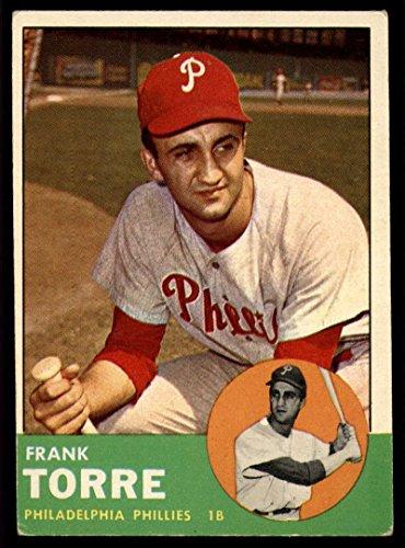 Baseball MLB 1963 Topps #161 Frank Torre EX Excellent Phillies