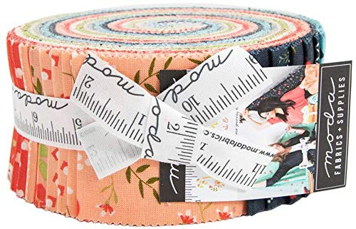 (Sherri and Chelsi Walkabout Jelly Roll 40 2.5-inch Strips Moda Fabrics 37560JR)