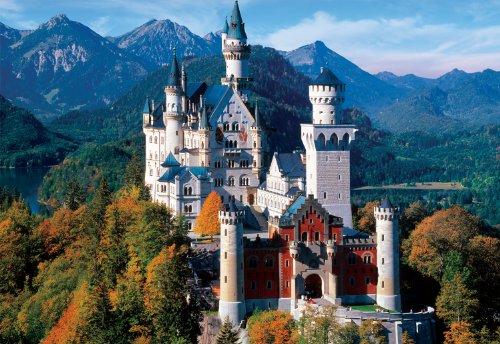Large Piece: Neuschwanstein Castle - 1000 Piece Puzzle