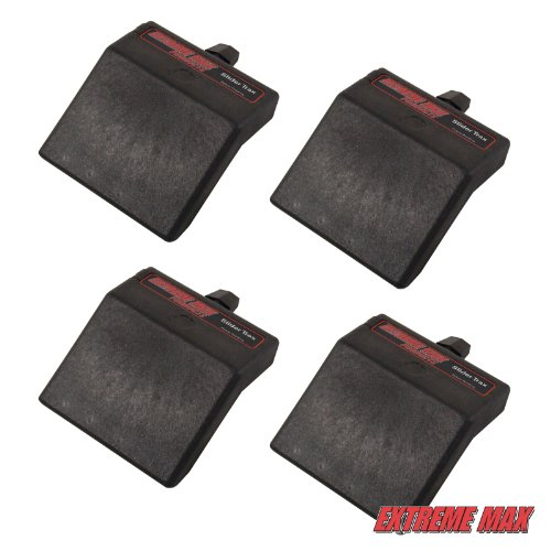 Extreme Max 3004.3100 45° Base for Slider Trax/OEM Marine Accessory Mounting Systems, 4 Pack