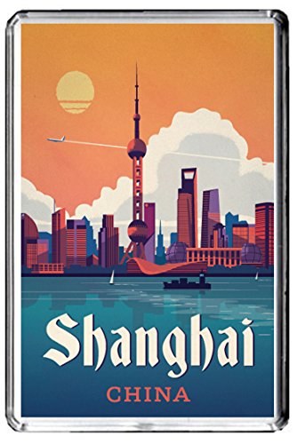 HAI FRIDGE MAGNET CHINA VINTAGE TRAVEL PHOTO REFRIGERATOR MAGNET ()