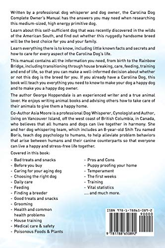 Carolina Dog Complete Owners Manual. Carolina Dog book for care, costs, feeding, grooming, health and training. 2