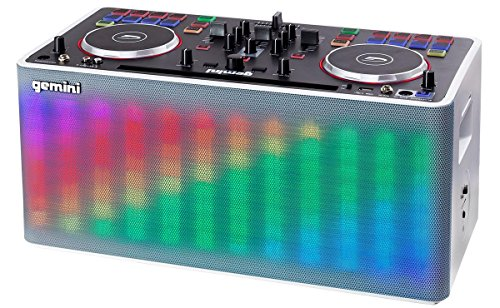Gemini MIX2GO Professional Audio Ultimate Performance Machine Full DJ Controller and Mixer with Bluetooth Compatibility and Light Show Capabilities ()