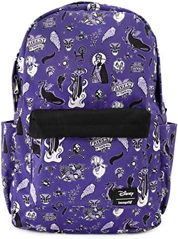 Loungefly x Disney Villain Icons Allover-Print Nylon Backpack