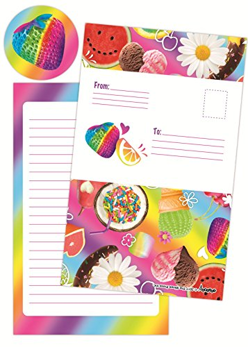 iscream Tutti Fruiti Pack of 8 Fold-Over Cards with Flip Sticker Seals