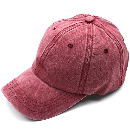 Joymee Candy Color Baseball Cap Korean Fashion Hats Solid Color Baseball Hats(Red) (Red Ladies Candy Cap)