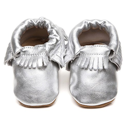 Baby Moccasins Silber 6/12Monate