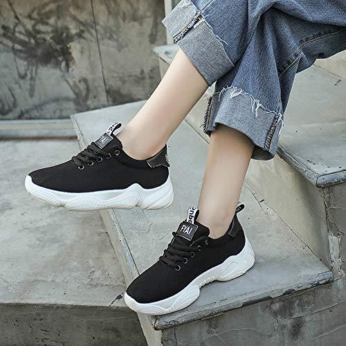 Chaussure Running À Confortables Adulte Sport Mode Chaussures Mixte Baskets Course Armure Perméable L'air Femmes De Compétition Zezkt Noir Travail waqO41x