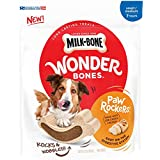 Milk-Bone Wonder Bones Paw Rockers with Real Chicken, Long Lasting Dog Treats, Small-Medium, 22 Ounce Pouch