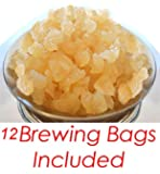 1/4 POUND Organic Original Water Kefir Grains Exclusively from Florida Sun Kefir with 12 Brewing Bags