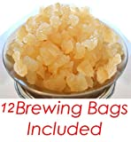 1/2 POUND Organic Original Water Kefir Grains Exclusively from Florida Sun Kefir with 12 Brewing Bags