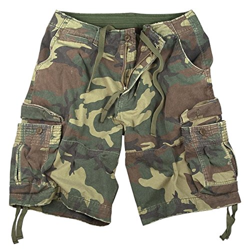 Woodland Cotton Camo Army T-shirt (Rothco Vintage Infantry Utility Shorts Woodland Camo 2XL)