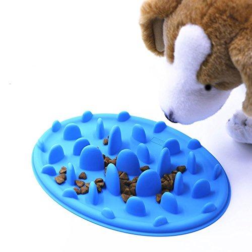 Anti-Choke Slow Feed Dog Bowl, Fun Feeder Interactive Bloat Stop Dog Bowl, Anti-Gulping Dog Bowl, Eco-friendly, Durable and Non Toxic