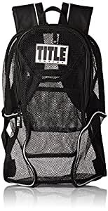 TITLE Boxing Mesh Equipment Backpack, Black