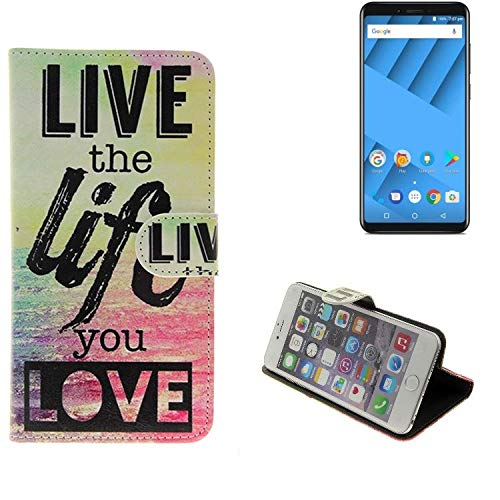 K-S-Trade 360° Funda Smartphone Compatible con Vernee M6, Live The ...