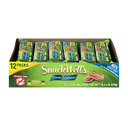 SnackWell's Crème Sandwich Cookies, Vanilla, 1.7 Ounce (Pack of ()