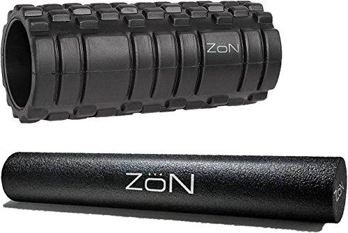 ZON 13 Black Foam Massage Roller & ZON 18 Black Foam Roller