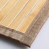 mDesign Bamboo Rectangular Spa Bath Mat Rug with