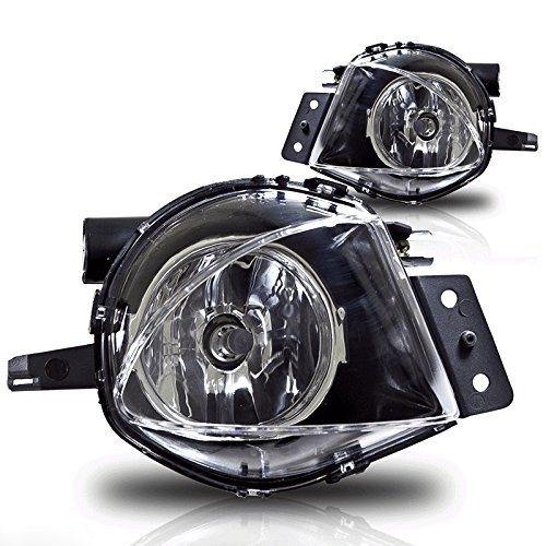 YUK Pair For BMW 2005-2008 E90 E91 12V 55w 5000K Front Bumper Driving Fog Light Lamp w/ Bulbs
