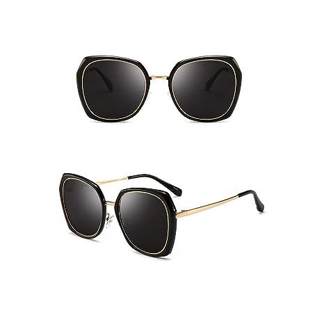 LYWWH Gafas de Sol Femeninas Anti-UV Color Claro Gafas de ...