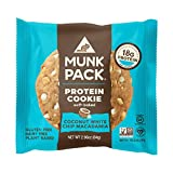 Munk Pack Protein Cookie | Coconut White Chip Macadamia | 18G Protein | Vegan, Gluten Free, Dairy Free, Soy Free, Soft-Baked | 2.96oz, 12-Pack