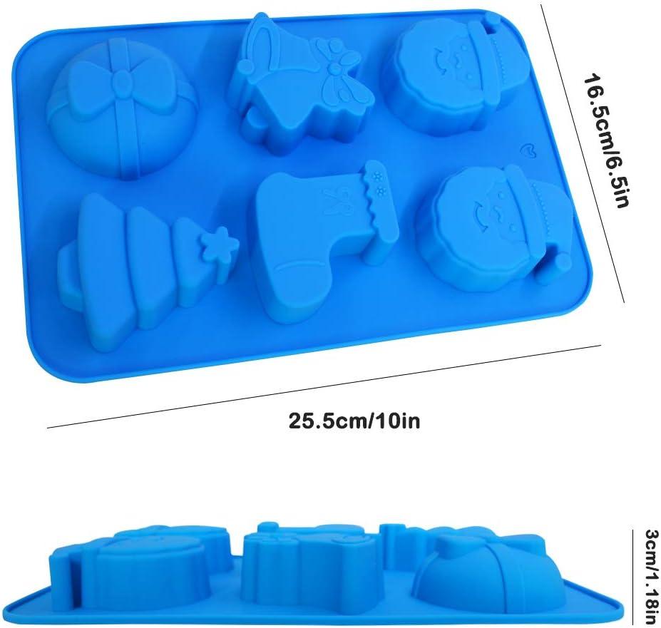 Weihnachtsbaum SourceTon Silikon-Backform Pudding Kuchendekoration Form f/ür S/ü/ßigkeiten Eisw/ürfel 3 Packungen Weihnachtsmann handgefertigte Seife