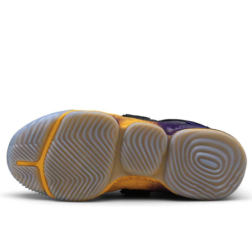 ETYGYH Herrensportschuhe, Herbst-und Winter-Leichtdämpfer Paar-Modelle Paar-Modelle Paar-Modelle Velcro Basketballschuhe hoch, um Rutschfeste, verschleißfeste atmungsaktive Trend Wilden Freizeitschuhen zu helfen,B,44 739c22