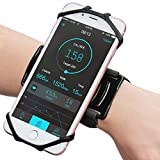 Matone Wristband for iPhone X/8/8 Plus/7/7 Plus/6/6S Plus, 180° Rotatable Phone Holder Forearm Armband Ideal for Jogging Running Compatible with Samsung Galaxy S8/S7 & 4.0'-5.5' Smartphone (Black)