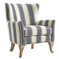 Farmhouse Accent Chairs Dorel Living Reva Accent Chair, Blue farmhouse accent chairs