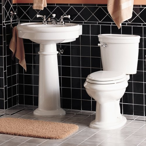 80%OFF Bathroom Pedestal Sink And Faucet Combo Square Wood Pedestal Red Oak Towel Bar, P-Trap, Drain